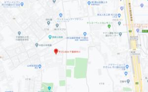和洋国府台女子中学校 旧校舎の地図です