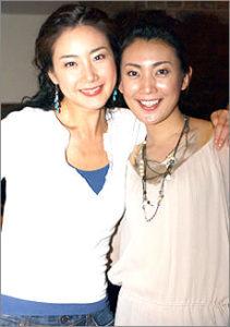 田中美里さんとチェジウさんの2ショット写真です