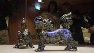 大英博物館に所蔵されている狛犬の写真です